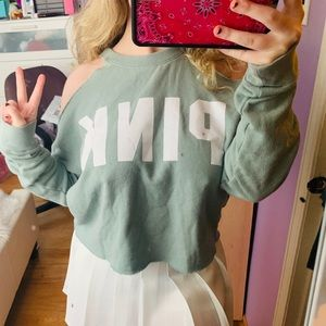 Ripped Long Sleeves Shirt From PINK
